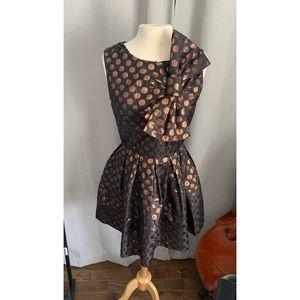 Polka Dot Dress with Bow - Anthropologie - Sz 10